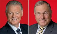 Die Bezirksbürgermeister Dieter Janßen, Sterkrade, und Karl-Heinz Pflugbeil, Osterfeld.