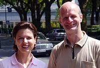 Stadtelternbeiratsvorsitzende Gloria Kaminski und MdL Stefan Zimkeit