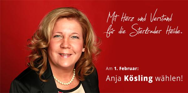 Mit Herz und Verstand für die Sterkrader Heide. Am 1. Februar Anja Kösling wählen!