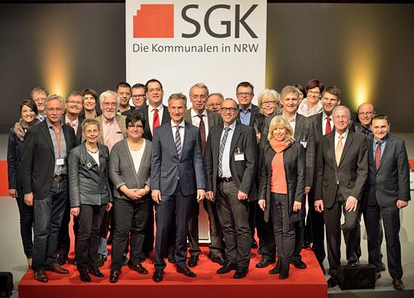 Der neue Landesvorstand der Sozialdemokratischen Gemeinschaft für Kommunalpolitik Nordrhein-Westfalen