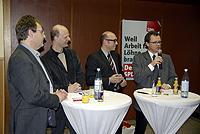 Von links: Dieter Hillebrand, Stefan Zimkeit, Apostolos Tsalastras und Dr. Michael Heidinger