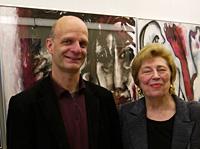 Stefan Zimkeit und Christa Schanz bei der Ausstellungseröffnung im Landtag