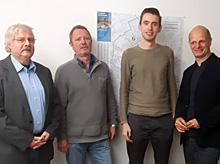 Thomas Klüh, Jörg Heinemann, Fabian Erstfeld und Stefan Zimkeit MdL