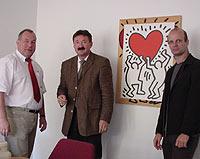 Von links: Karl-Heinz Pflugbeil, Vorsitzender des SPD-Ortsvereins Osterfeld, Andreas Fontein, neuer Schulleiter der GSO, und Stefan Zimkeit, schulpolitischer Sprecher der SPD