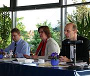 Von links: Karsten Bron, Kerstin Griese (MdB) und Stefan Zimkeit
