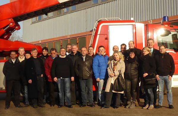 Trafen sich zur Tagesklausur bei der Feuerwehr: Die Mitglieder des AK Umwelt der SPD-Ratsfraktion