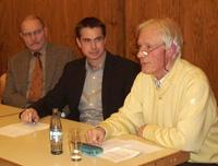Von links: Elmar Oertel, Stefan Scheffler und Kurt Schützdeller