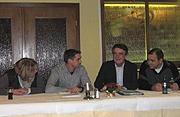 v.l.n.r. Anja Kösling, Stefan Scheffler, Mike Groschek, Hubert Cordes