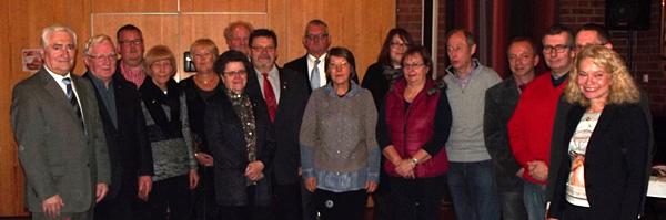 Elia Albrecht-Mainz (ganz rechts) ehrte die Jubilare des Ortsvereins Sterkrade-Nord