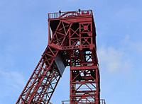 Denkmalgeschützt: Der Förderturm von Schacht IV der ehemaligen Zeche Osterfeld