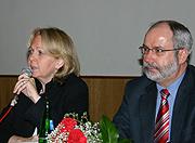 Die Vorsitzende der SPD-Landtagsfraktion Hannelore Kraft mit Wolfgang Große Brömer, MdL und Vorsitzender der Oberhausener SPD