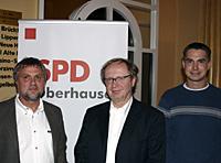 MdB Wolfgang Grotthaus, Staatssekretär Michael Müller und Juso-Chef Stefan Scheffler